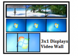 3x Displays Video Wall series (Clone/Extend/Eyefinity 3)