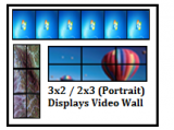 6x Displays Video Wall series (Clone/Extend/Eyefinity 6)