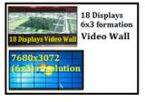 18 Displays @6x3 Video Wall